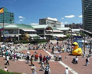 Baltimore Inner Harbor plaza