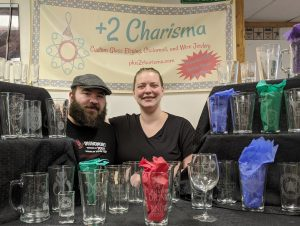 Dealer: +2 Charisma booth - etched glassware