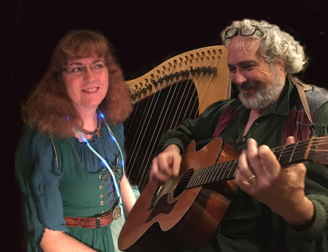Margaret and Kristoph (with harp and guitar)