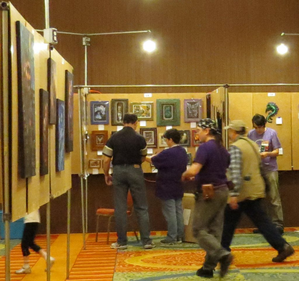 Art Show with panels